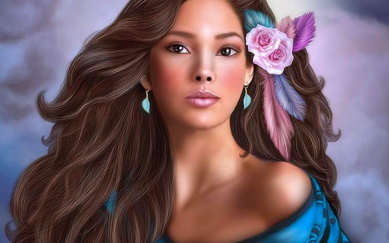 3d beautiful girl