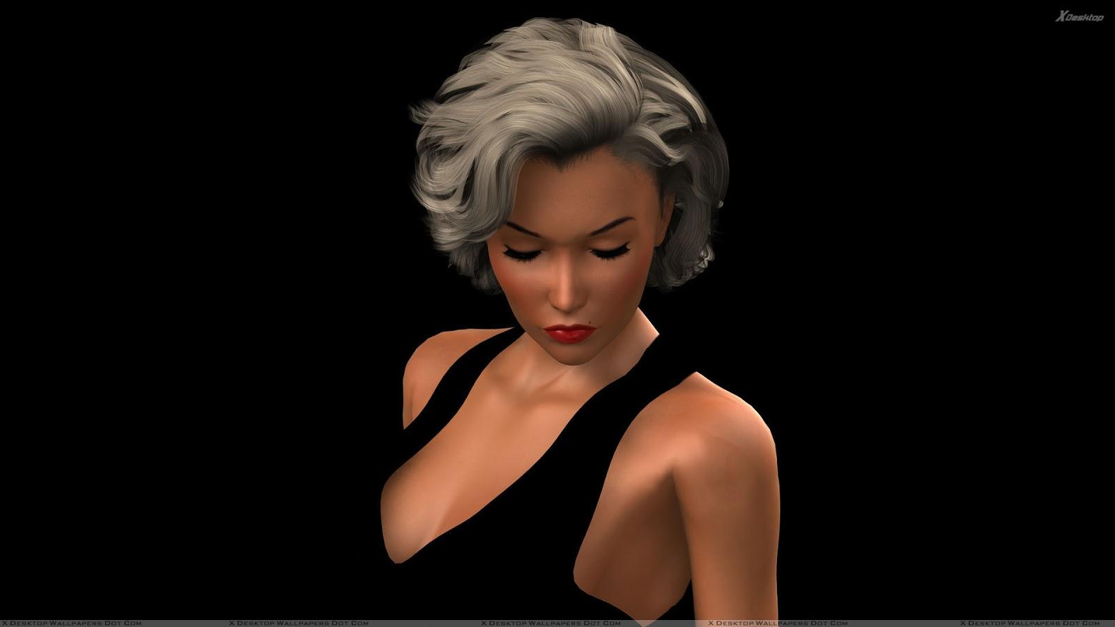 beautiful 3d model girl gif