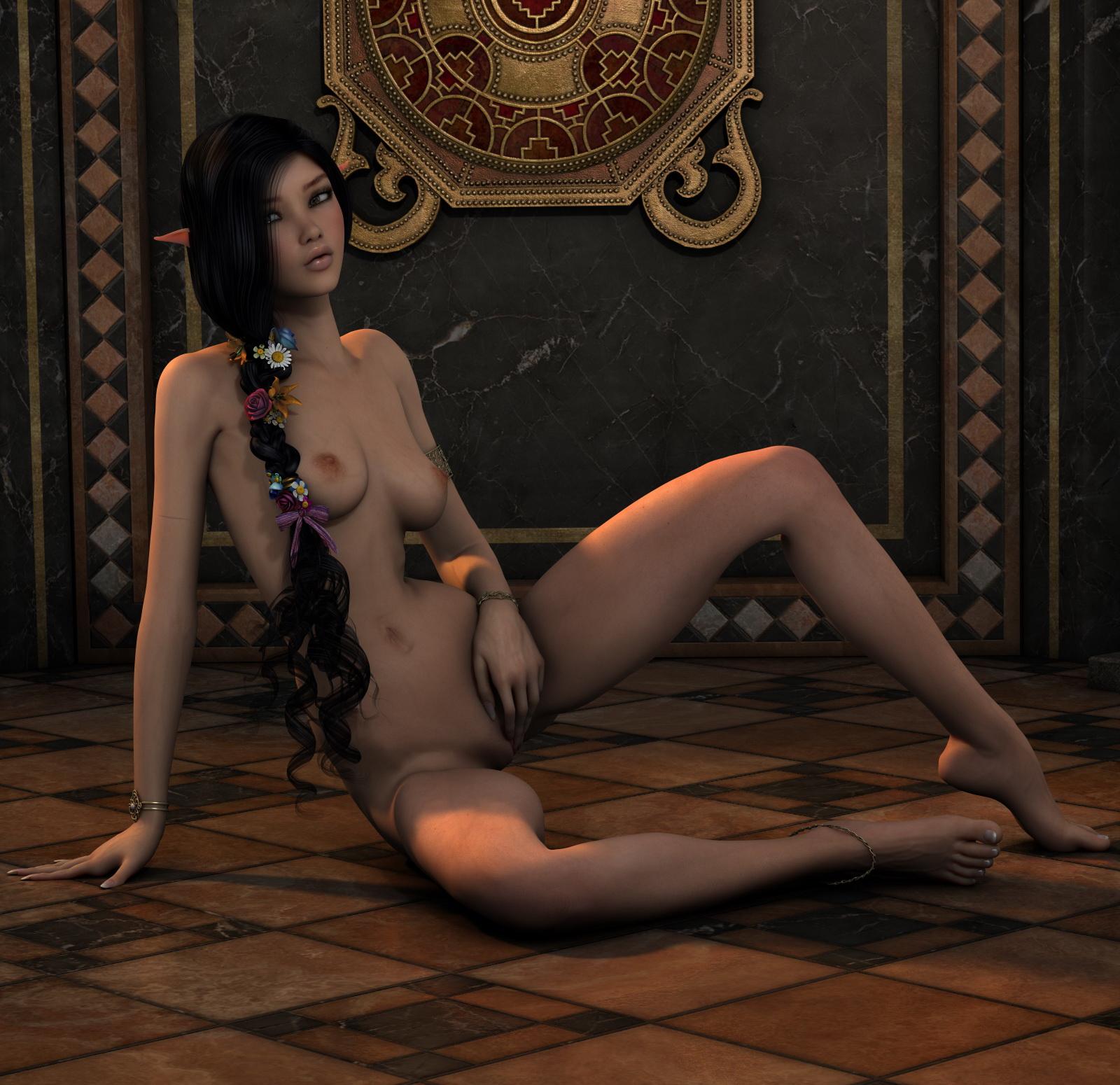 beautiful 3d naked girl