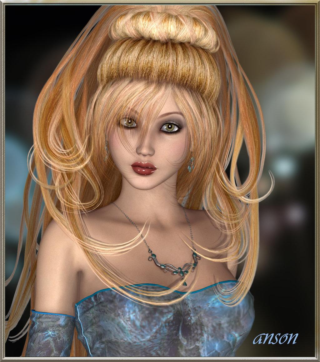 most beautiful girl 3d